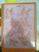 Acodar plantilla Plantilla Dibujo spray pintura de pared de sello de recortes manualidades