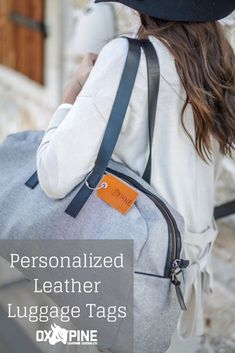 Ox & Pine's Personalized Leather Luggage Tags are a great addition to any bag, luggage, or purse. The options are endless with so many personalization options and leather colors. Customize your leather luggage tag for yourself or someone in your life! Leather Luggage Tags, Leather Gifts, Personalized Gifts For Her, Perfect Gift For Her, Custom Leather, Mother Day Gifts, Her Style, Traveling By Yourself, Ox