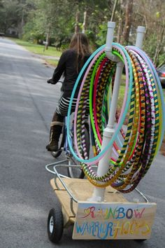 Why doesn't this guy ride past my house? Where's my hula hoop delivery man!?!?