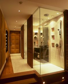 Walk in, all glass  rainshower in every room!