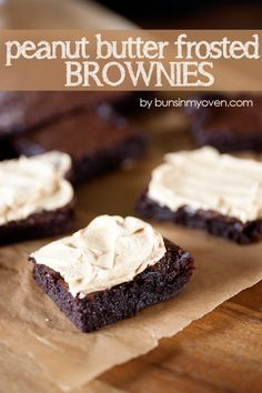 peanut butter frosted brownies recipe