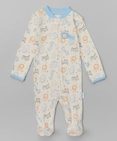 Look at this Vitamins Baby Ivory Sleeping Monkey Footie - Infant on #zulily today!