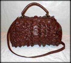 'Jessica Simpson Large Python Embossed Ruffled Gypsy Bag' is going up for auction at  8pm Mon, Apr 14 with a starting bid of $3.