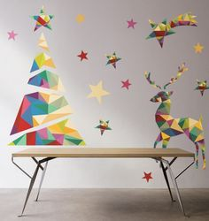 Adhesive Removable Christmas Trees from Pixers