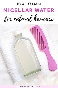 You really can wash hair without shampoo – learn how to make DIY micellar water for hair! This multitasking hair cleansing water is a micellar shampoo, buildup remover, and clarifying rinse in 1. It replaces shampoo, leaving hair clean and soft without any sulfates or suds. Like the no poo method, but better! Plus, it's so gentle. Wash your hair without baking soda and get it TRULY clean with this unique recipe. Perfect for a natural haircare routine. #haircare #diybeauty #alifeadjacent All Natural Skin Care, Natural Hair Tips, Natural Health, Beauty Spa, Diy Beauty, Beauty Ideas, Beauty Hacks, Natural Haircare, Diy Haircare