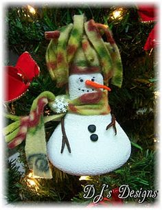 Snow man Ornament.... more idea on site