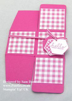 Pootles Stampin Up UK 2x2x2 Cube Fold Flat Favour Box 2