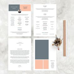 Resume / Cv Template by Graphic Pear on @creativemarket