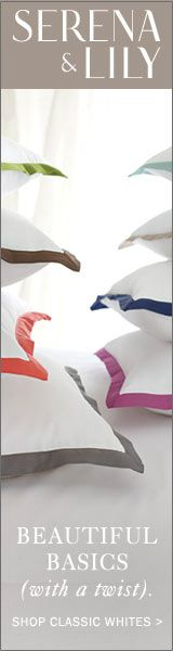 Contrast colored flange on pillows. House of Turquoise: Jenn Feldman Designs House Of Turquoise, Awesome House, Joseph Joseph, Utensil Set, Where The Heart Is, Nantucket, Soft Furnishings, Master Bedroom, Contrast