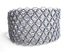 Modern Macrame Bracelet . Handwoven Textile by RAIZmacrame on Etsy