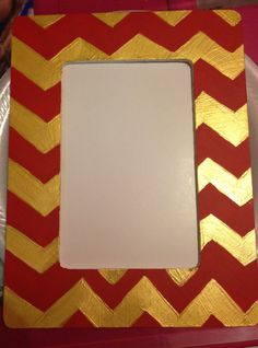 my new chevron fsu picture frame