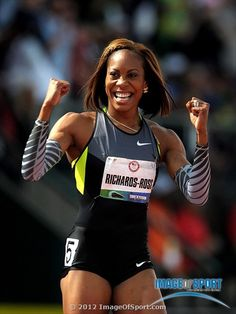 Sanya Richards-Ross celebrates after winning the womens in in the 2012 U. Olympic Team Trials at Hayward Field. Mandatory Credit: Kirby Lee/Image of Sport-US PRESSWIRE Track Uniforms, Sanya Richards, Track Pictures, Sport C, Olympic Team, Sports Images, Muscle Girls, Track And Field, Athletic Women