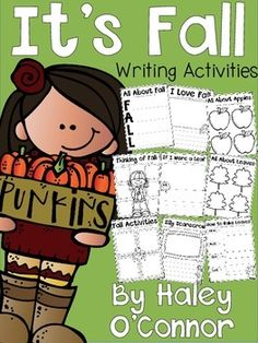 I created this packet of writing prompts and activities for my first graders to use during Work on Writing time, morning work, and other times I want to keep them engaged in writing. They are also perfect to attach to your favorite Fall craftivities and make adorable bulletin boards! I love to give my students choice...you can easily set these in a writing center and let them choose their activity!