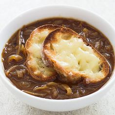 French Onion Soup from America's Test Kitchen, made in your slow cooker - a recipe we'll be whipping up on both week nights and weekends!