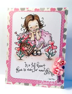Valentine's day card. Mo's digital pencil stamp - Full Heart. Coloring with Staedtler pencils. www.dedaldeprata.blogspot.pt