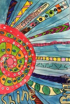 Konst skisser, elements of art, planering Art Sketches, Art Drawings, 2nd Grade Art, Sun Art, Art Lessons Elementary, Elements Of Art, Art Lesson Plans, Art Classroom, Summer Art