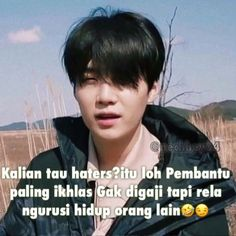 Bts Quotes, Jokes Quotes, Ff Bts, Dear Haters, Text Jokes, Reminder Quotes, Quotes Indonesia, Korean Language, Cute Love Quotes