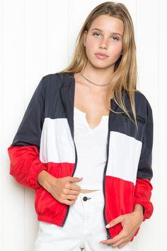 Brandy ♥ Melville | Krissy Windbreaker Jacket - Outerwear - Clothing