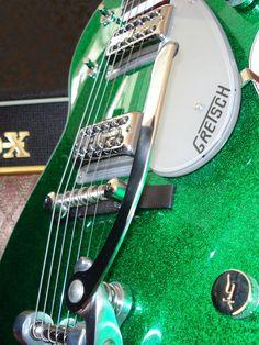 Gretsch green sparkle guitar