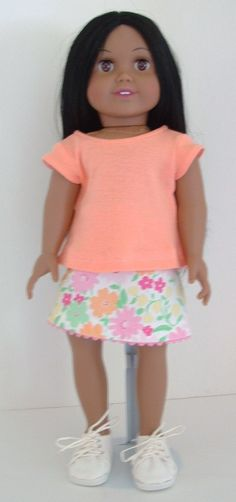 Flowered Skirt by MyGirlClothingCo on Etsy, $8.00