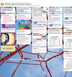 #Biblioteca Digital de Formación Profesional. Compilación de recursos referentes a las enseñanzas de #FormaciónProfesional #FP Map, Management, Location Map, Maps, Peta
