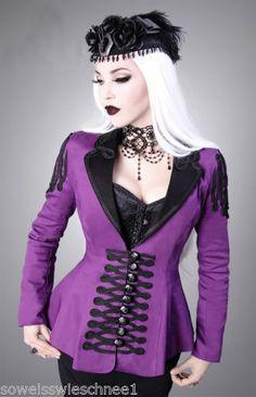 Restyle-Militaer-Jacke-Lila-Gothic-Lolita-Military-Jacket-Purple-Black-Steampunk