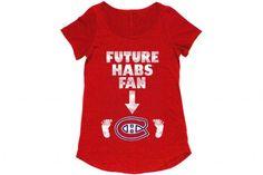 T-shirts adorables de grossesse - Fan des Canadiens de Montréal #hockey