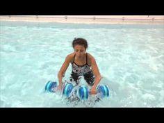 Aqua Instructor tip Suspended V kick Aqua Fitness Aqua Aerobics exercise with Marietta Mehanni Noodle shallow deep tuck and Swimming Pool Exercises, Pool Workout, Aerobics Workout, Pilates, Aerobics Classes, Fat Burning Cardio, Water Aerobics, Sup Yoga, Cardio Routine