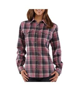 Ladies Flannel Shirts | Carhartt Women's Midweight Flannel Button-Front Shirt