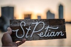 It's so nice to see what others can do with my work. This custom piece was created by the master and jack of all trades @foxyt_3 . Rad work my friend. #stpete #stpetian #dtsp #lettering #surfacetype #tampabay #handlettering