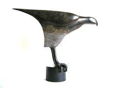 Anna Campbell bronze sculpture of a hawk Anna Campbell, Animal Sculptures, Bronze Sculpture, Gallery, Roof Rack