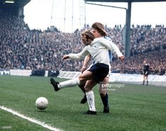 Derby County's Archie Gemmill takes on Manchester City's Willie Donachie 22nd April 1972