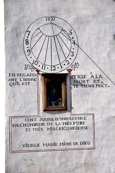 Cadran solaire.Blesle, Auvergne, France. by Sylvie