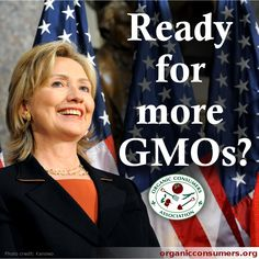 TAKE ACTION: Tell Hillary Clinton: It's time to dump Monsanto and support public health, and regenerative, organic agriculture: http://orgcns.org/1oL9iKM  We have over 80,000 signatures! Please help us reach our goal of 250,000! #Monsanto #GMO #HillaryClinton