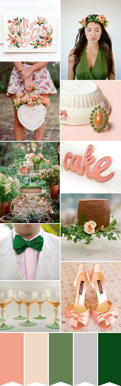 Peach and Green Wedding Inspiration | Read More: http://onefabday.com/peach-and-green-wedding-inspiration/
