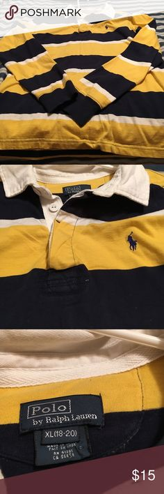 Boys polo shirt. In great condition no rips or stains. Size 18/20 Polo by Ralph Lauren Shirts & Tops Tees - Long Sleeve