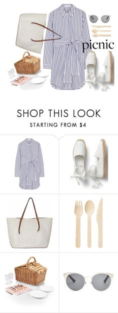 """""""Picnic"""" by sunkissedstylez ❤ liked on Polyvore featuring T By Alexander Wang, Picnic Time, Christian Dior, outfit, picnic and shirtdress"""