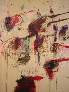 Close up of a Cy Twombly painting at the Museum of Modern Art.     See the latest #Art installations in     NYC on https://www.artexperiencenyc.com