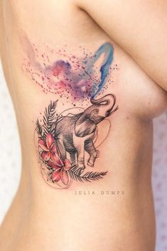 51 Gorgeous Looking Watercolor Tattoo Ideas female tattoo Watercolor Elephant Tattoos, Colorful Elephant Tattoo, Elephant Tattoo Design, Tattoo Watercolor, Tattoo Elephant, Hot Tattoos, Trendy Tattoos, Body Art Tattoos, Tattoos For Women