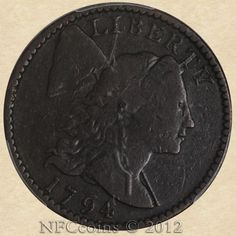 1794 Large Cent F12 PCGS, head of 1795, obverse