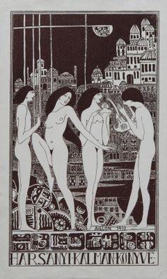 Ex libris - Harsányi Kálmán | Sassy (Aiglon), Attila (1880-1967), Bp. 1910