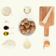 Risotto bianco cu ciuperci