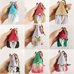 Nordic Gnome Key Ring . Use it for keys or just hang it as a ornament. It is a great gift for any gnome lover! Gnome Key chain is handmade by me. I used cotton and linen blend fabrics. They are fully lined with complimentary fabrics. This Gnome Key chain has grey body , tan hat , inside