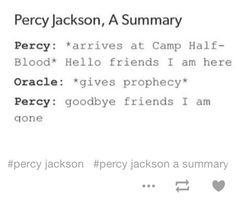 A summary of Percy Jackson