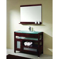 Design Element Solid Wood Bathroom Vanity Set | Overstock.com Shopping - Great Deals on Design Element Bathroom Vanities