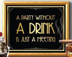 Art deco sign great gatsby great gatsby decorations great gatsby party bar sign great gatsby p Prohibition Party, Speakeasy Party, Great Gatsby Party Decorations, Masquerade Decorations, Great Gatsby Theme, Roaring 20s Party, Roaring Twenties, Twenties Party, Art Deco Party