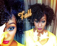 The Perfect Fall Twist Out on short\medium length 4b Natural Hair |Entwi...
