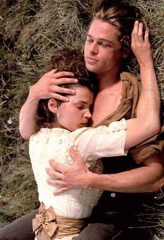Tristan and Susannah became lovers. Bradd Pitt, Brad Pitt Movies, Julia Ormond, Tragic Love Stories, Epic Film, Cinema Actress, Movie Couples, Leonardo Dicaprio, The Past
