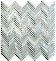 Wall Master  Herringbone Pattern Collection, Random Bricks, Everest, Glossy, White, Glass   http://www.glasstileoasis.com/p-13815-Everest-White-Glossy-Glass