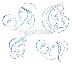 Madre con bebé — Ilustración de stock #10565513